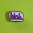 blah pin front facing