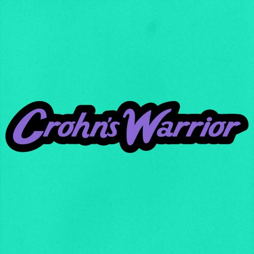 "Vinyl sticker that says ""Crohn's Warrior"""