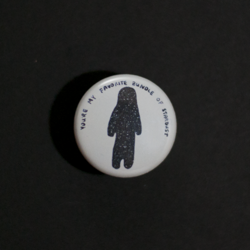 front view of stardust button