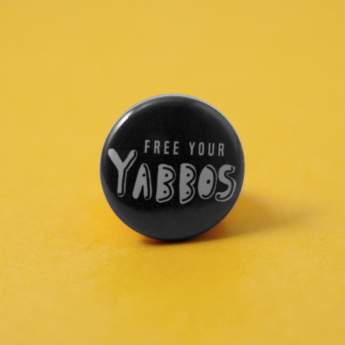 front view of yabbos button